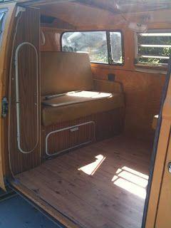 Vw Camper Van >> Volkswagen Camper custom interior | VW 72 Camper Restoration: Custom Wood Paneling, and Flooring ...