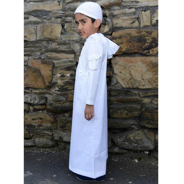 Urban Hooded Jubba/Thobe - White