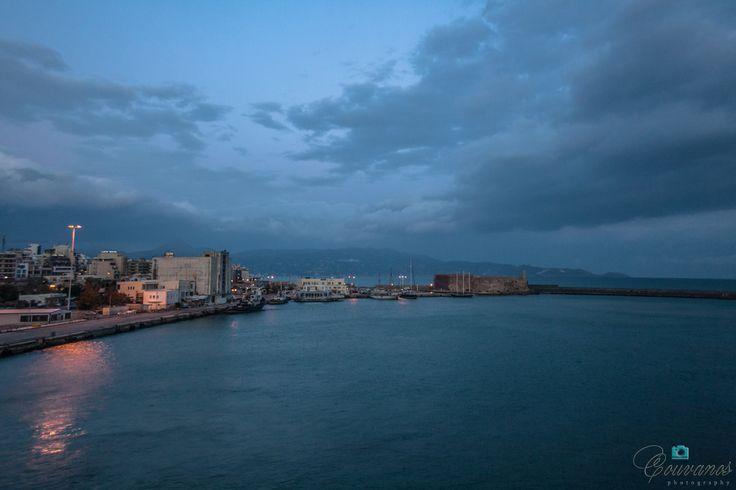 Sunrise at Heraklion port, Crete