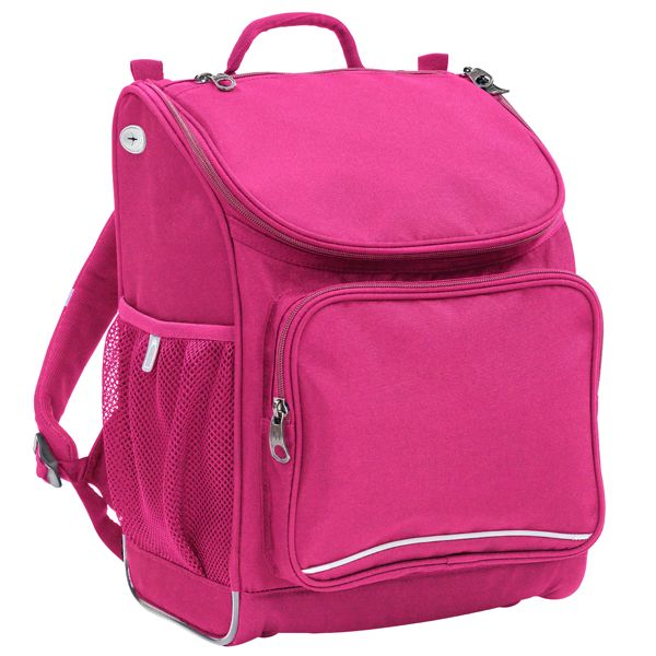 Mighty Tuff-Packs - Compact and Durable Single Compartment Bags. Now available in Hot Pink & Purple. 15 YEAR WARRANTY! And you can personalise. Awesome! #backtoschool #schoolbags