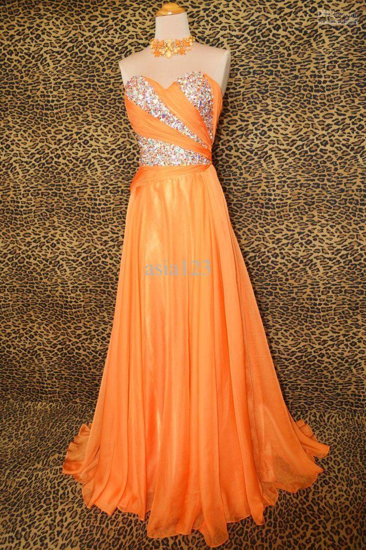 sunset Formal Dresses | Wholesale - -2013 Hot Sale! Sunset Orange Evening Long Prom Formal ...