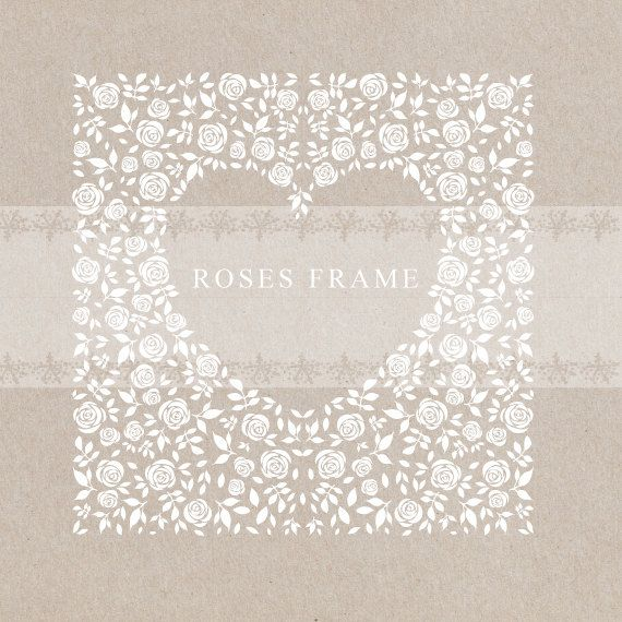 Cuore, cornice digitale, rose, cornice / sfondo quadrato, cornice floreale, sposalizio, cornice bianca