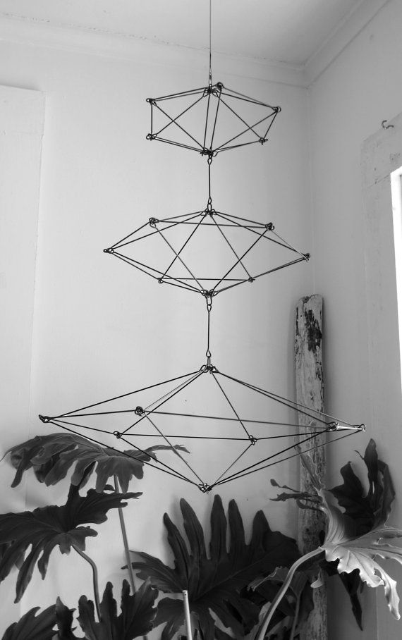 Modern Himmeli Inspired Geometric Sculpture by CharestStudios