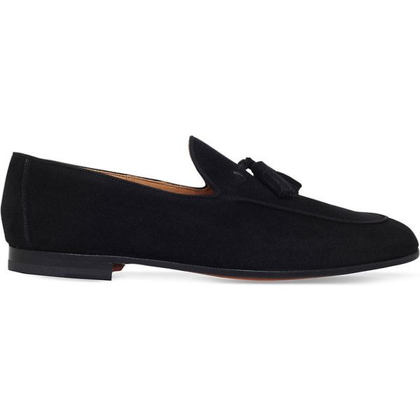 Magnanni Tassel suede loafers (19.230 RUB) ❤ liked on Polyvore featuring men's fashion, men's shoes, men's loafers, mens suede loafers, mens shoes, mens tassel shoes, mens loafer shoes and mens black suede shoes