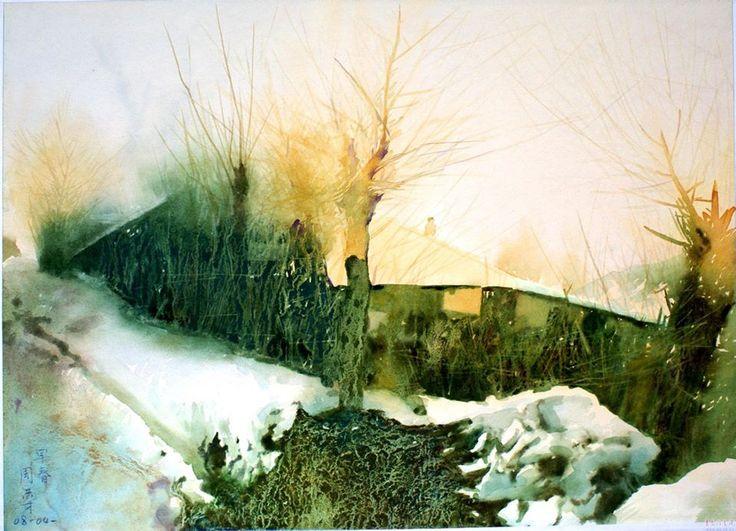 Zhou Hongcai (b. 1957, China) - художник из Китая