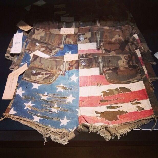 American flag camo shorts