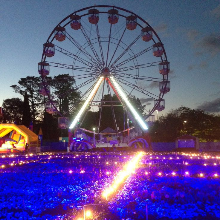 We love a good old vintage Ferris Wheel especially night time with all the pretty lights........