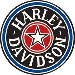 Harley-Davidson® Fat Boy Gas Cap Round Embossed Tin Sign