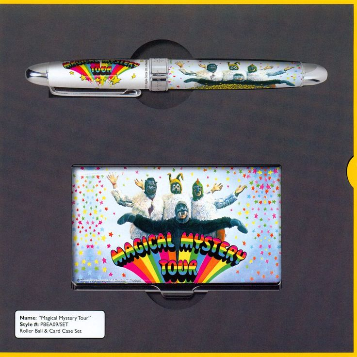 ACME Beatles Magical Mystery Tour Limited Edition Rollerball Pen and Card Case Set | Airline International Luggage | Luggage, pens and gifts... #beatles #magical #mystery #tour #pen #cardcase #set