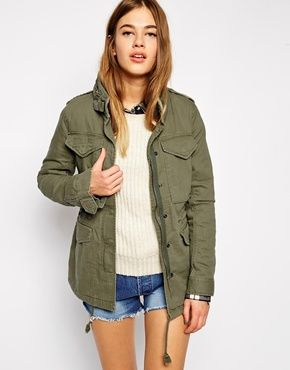 Denim & Supply By Ralph Lauren Parka With Anerican Flag