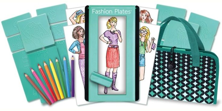 Creative toys for 8 year olds: Fashion Plates are still fun after all these years.