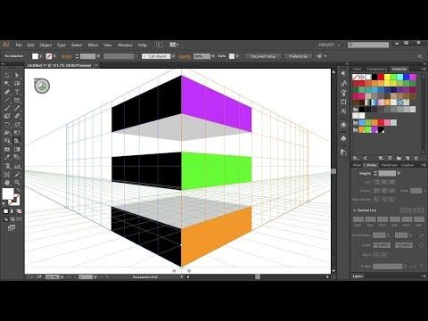 How to Use the Perspective Grid Tool in Adobe Illustrator - PART 2 - YouTube
