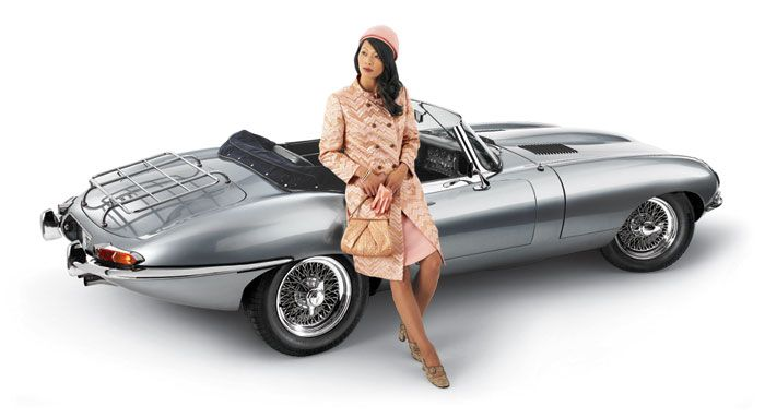 1965 Jaguar E Type, Series I, OTS -- BOB RIVERS SHOW CLASSIC CAR CALENDAR