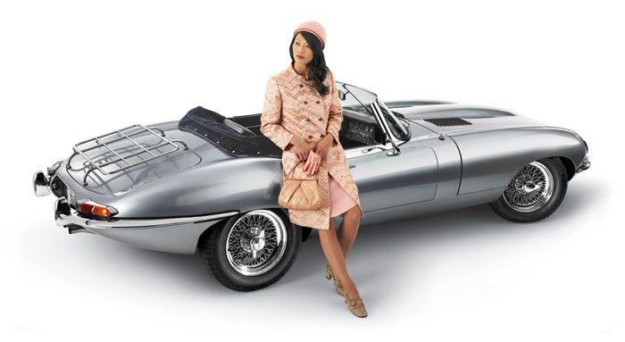 1965 Jaguar E Type, Series I, OTS -- BOB RIVERS SHOW CLASSIC CAR CALENDAR