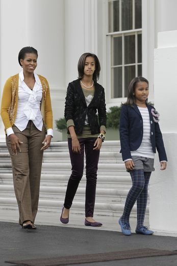We are Family - First Lady Michelle Obama and First Daughters, Malia and Sasha.