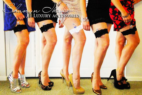 Lace Shot Garters Set of 5 for Bridal Party You by shanynihrke, $60.00