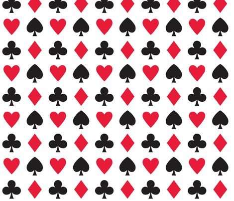 In Wonderland: Hearts, clubs, diamonds, & spades by jazzypatterns, click to purchase fabric