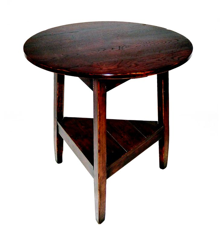 Cricket table in European Oak - stained Antique. 720 diameter - 700 high.