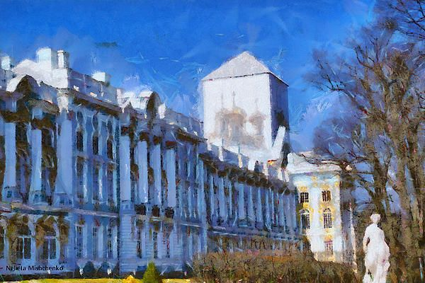 Catherine Palace in Saint Petersburg,Russia.
