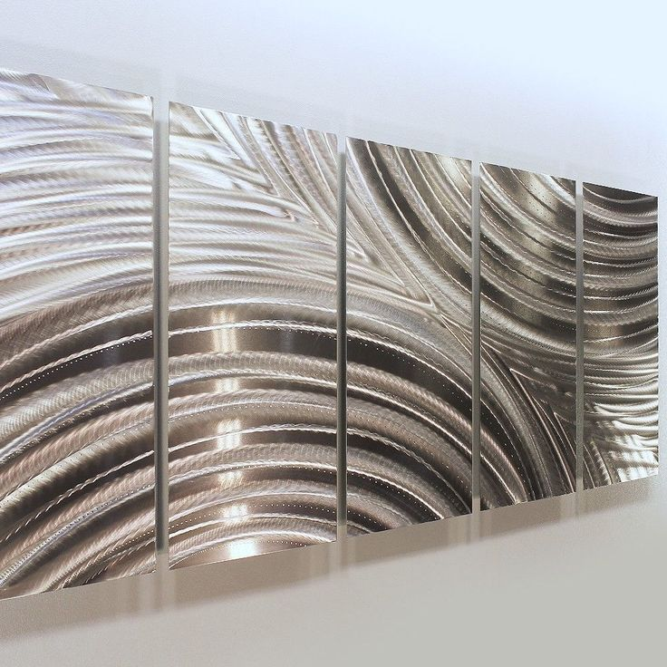 Contemporary Silver Wall Decor : Best ideas about abstract metal wall art on