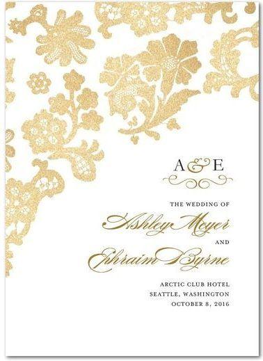 Lace wedding program design