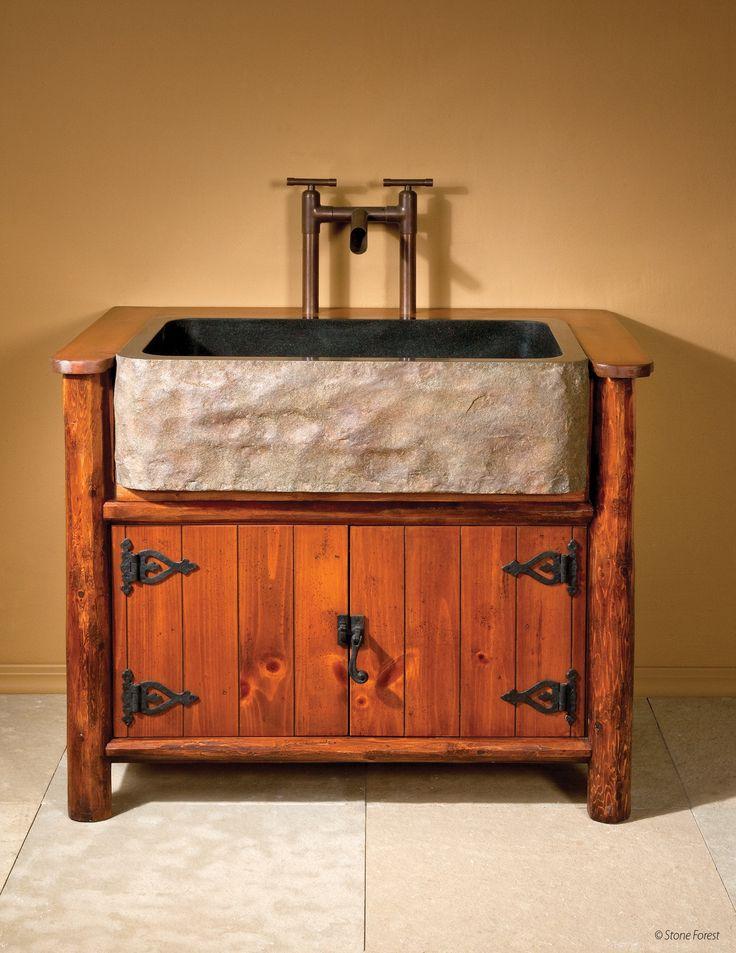 25 Rustic Bathroom Vanities To Make Your Bathroom Look Gorgeous