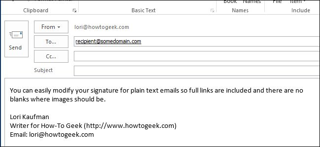 How to Modify a Signature - Outlook 2013