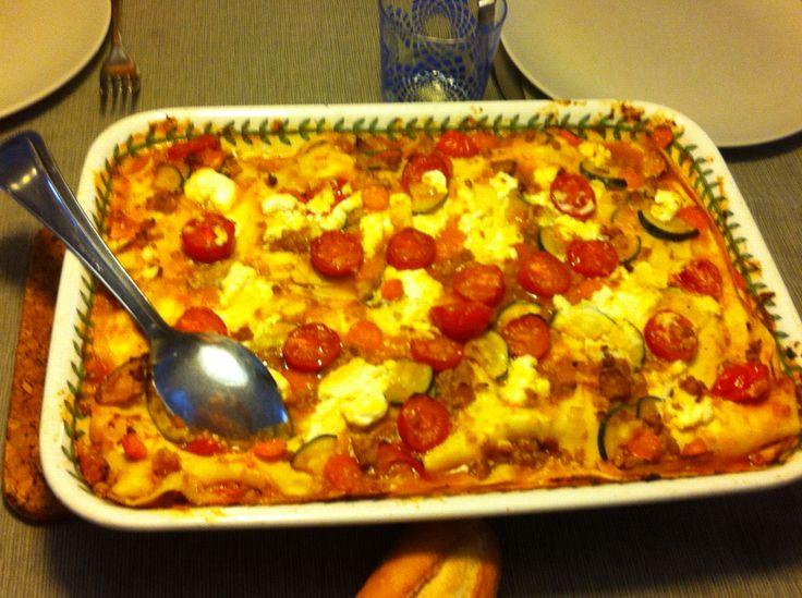 Zelfgemaakte lasagne met ricotta