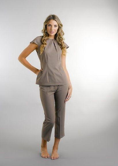 Lara Luxe, Salon Uniforms, Salon Wear, Spa Uniforms, Lara Puff Sleeve - Tunics - The Collection