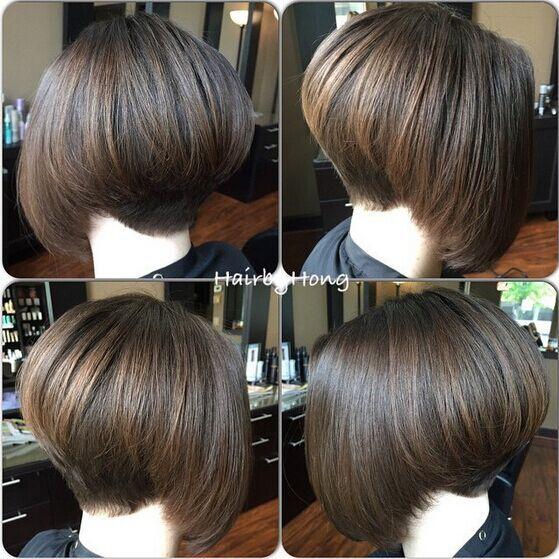 Stacked Bob Haircut for Straight Hair