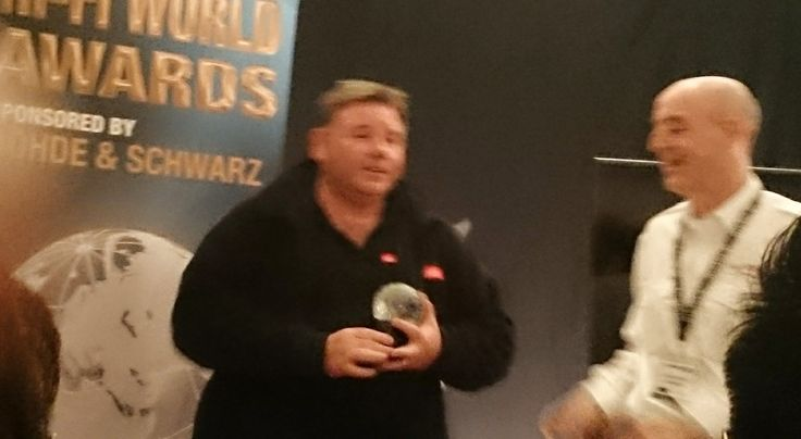 Receiving HIFi World product of the year award