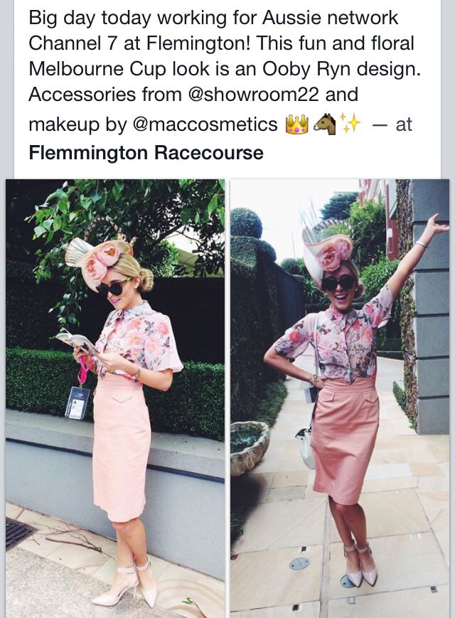 Gracie Taylor wearing Ooby Ryn at Flemington races :)