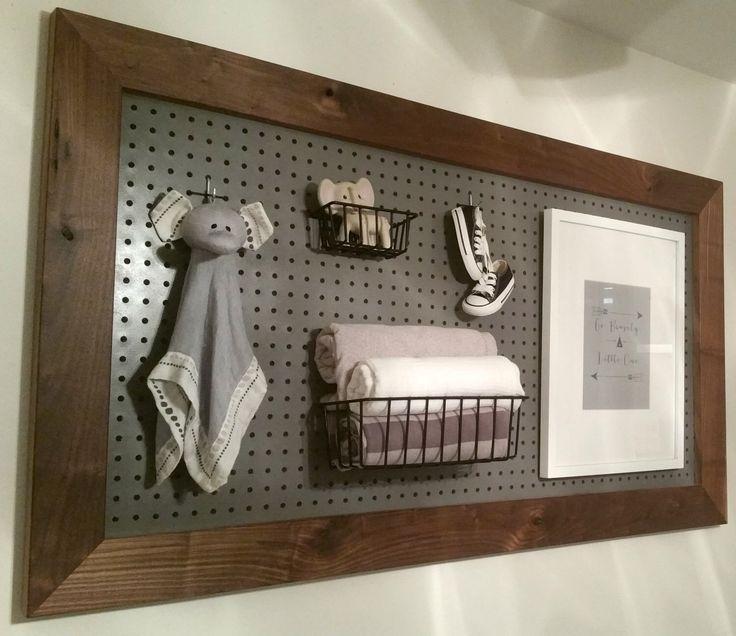 Wood Framed Pegboard by LoveAndSplinters on Etsy https://www.etsy.com/listing/235385041/wood-framed-pegboard
