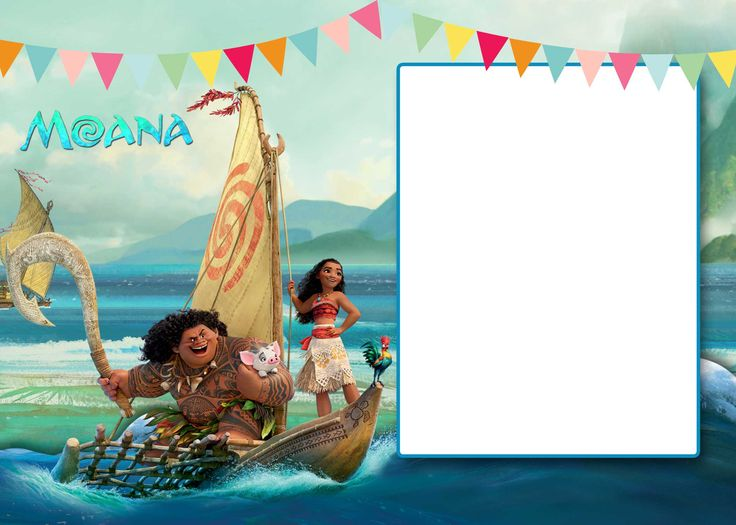 Free FREE Printable Moana 1st Invitation Template