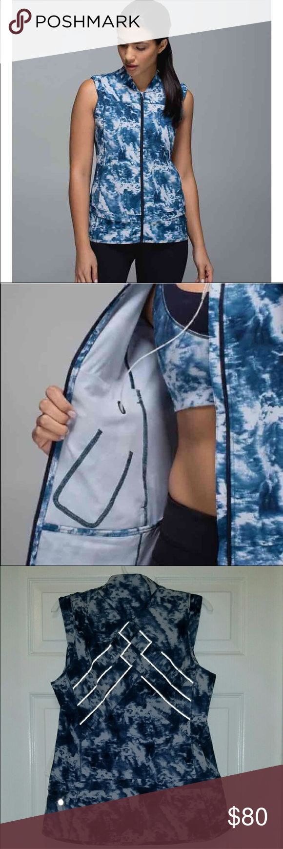 NEW LULULEMON Vest NEW with tags. Size 8. Reflective detailing lululemon athletica Jackets & Coats Vests
