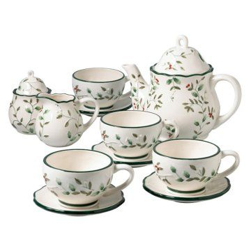 Large Tea Set in Winterberry by pfaltzgraff.  sc 1 st  Pinterest & 23 best Winterberry Dishes images on Pinterest | Dinnerware ...