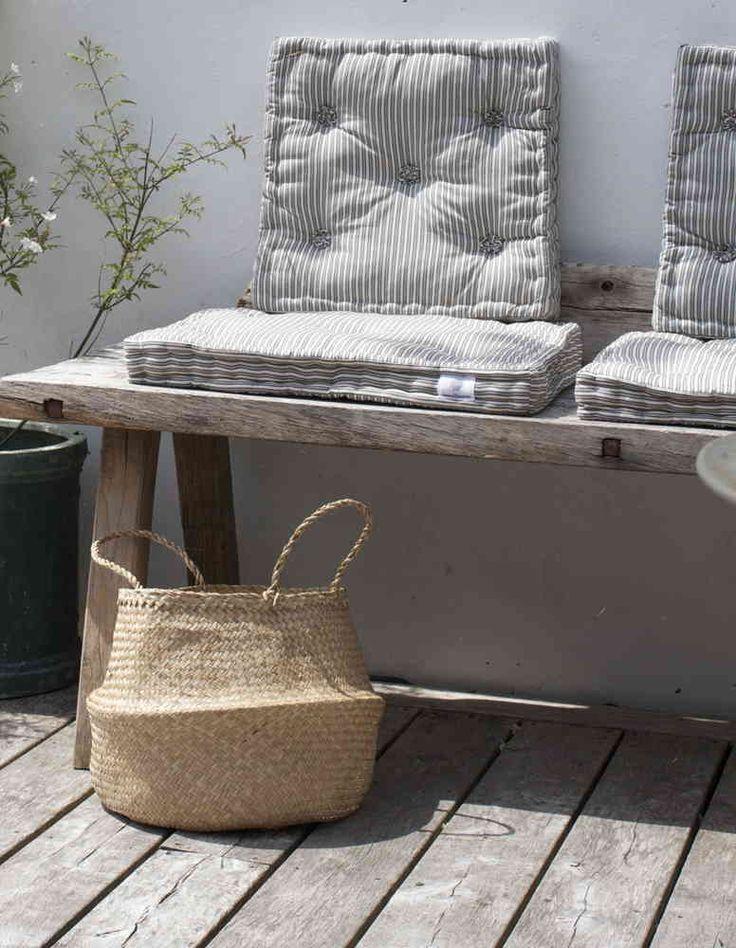 Design Vintage | Striped Futon Cushion | Tine K Home | Rectangular 45cm x 55cm x 7cm, Square 40cm x 40cm x 7cm £25 each