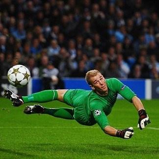 Joe Hart, Manchester City. | Man. City. 1-1 Borussia Dortmund. 03.10.12.