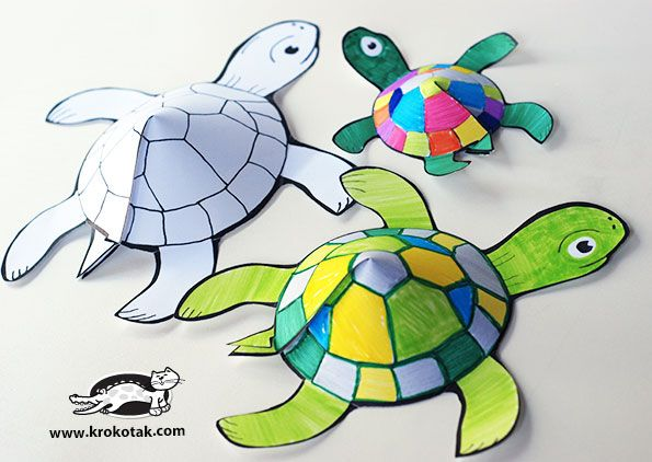 Glueless printable turtle