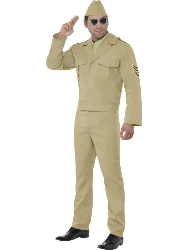 American 1940s WWII GI Army Soldier Uniform Mens Fancy Dress Stag Party Costume in Clothes, Shoes & Accessories, Fancy Dress & Period Costume, Fancy Dress | eBay