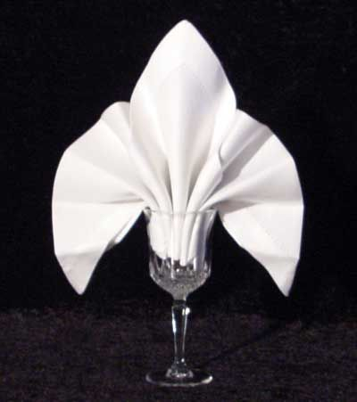 Napkin Folding Tutorial - The Fleur De Lys Goblet Fold