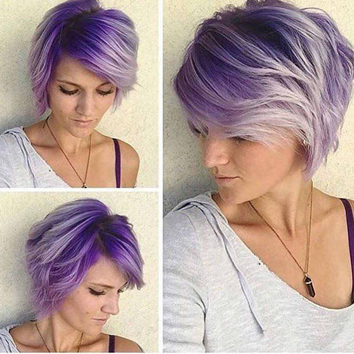 Haare selber lila farben