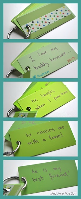 """""""I love my daddy because..."""" Fathers Day Craft: Keychain"""