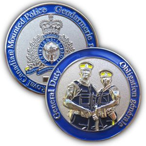 $14.99 The General Duty coin encompasses the commitment to serve and protect performed by all RCMP members everyday.