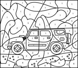 off road car online color by number page hard coloring pages coloring pages color vehicles. Black Bedroom Furniture Sets. Home Design Ideas
