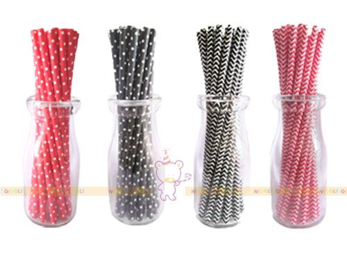 Paper Straws. Style up your party drinks with these party straws, perfect for creating style with your party drinks, no matter what you are celebrating.  Visit us at www.wigglegiggle.com