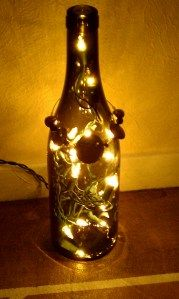 Wine Bottle LightsWine Corks, Trav'Lin Lights, Bottle Lights, Wine Bottle Lamps, Christmas, Years Really, Cool Ideas, Wine Bottles, Crafts