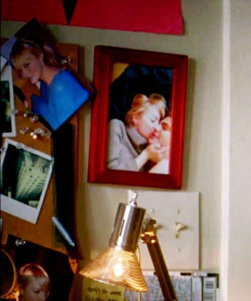 I mean, look at this picture hung up in her fake room for their new movie. THIS IS PRECIOUS. | 21 Reasons Why Andrew Garfield And Emma Stone Were The Cutest Couple Of 2013
