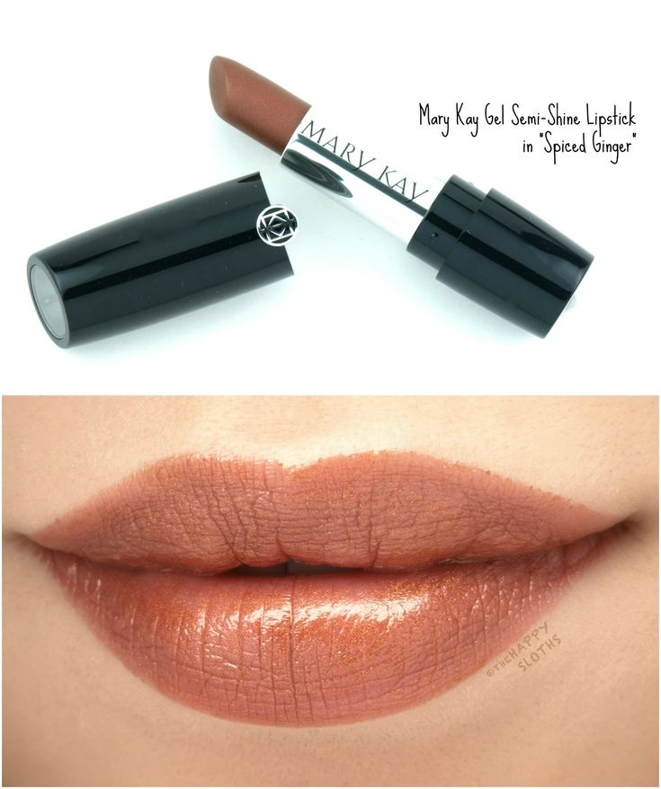"""Mary Kay Gel Semi-Shine Lipstick in """"Spiced Ginger"""": Review and Swatches"""