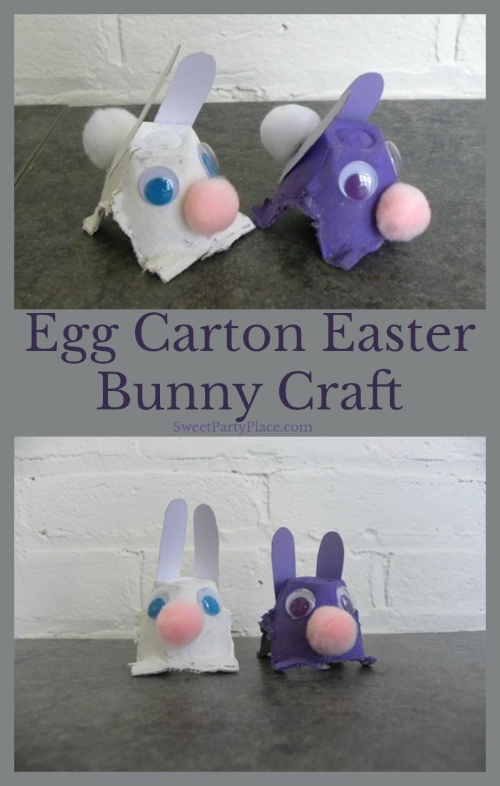 Fun Egg Carton Easter Bunny Craft For Kids Easter Easterbunny